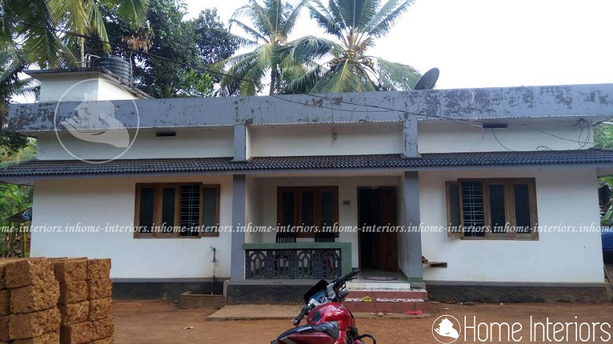 1000 square feet single floor renovation home design Old home renovation in kerala