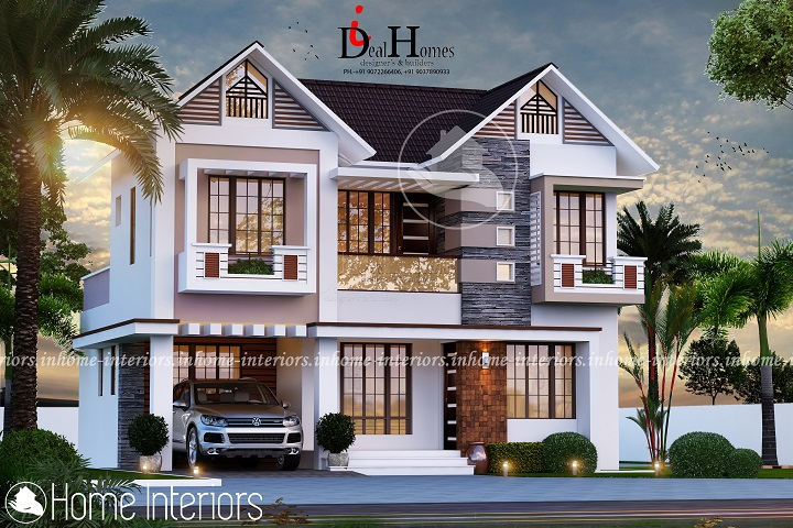1518 Square Feet Double Floor Contemporary Home Design