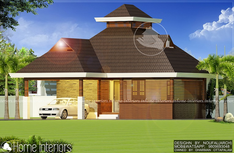 800 square feet single floor modern traditional home design for 800 sq ft house plans kerala