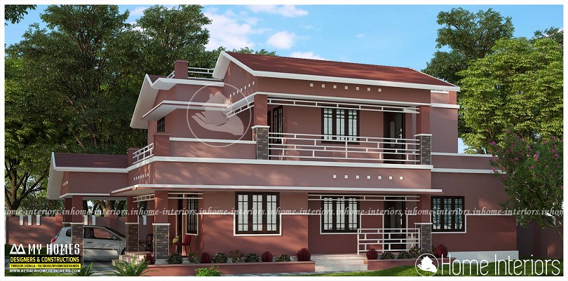 2485 Square Feet Double Floor Contemporary Home Designs