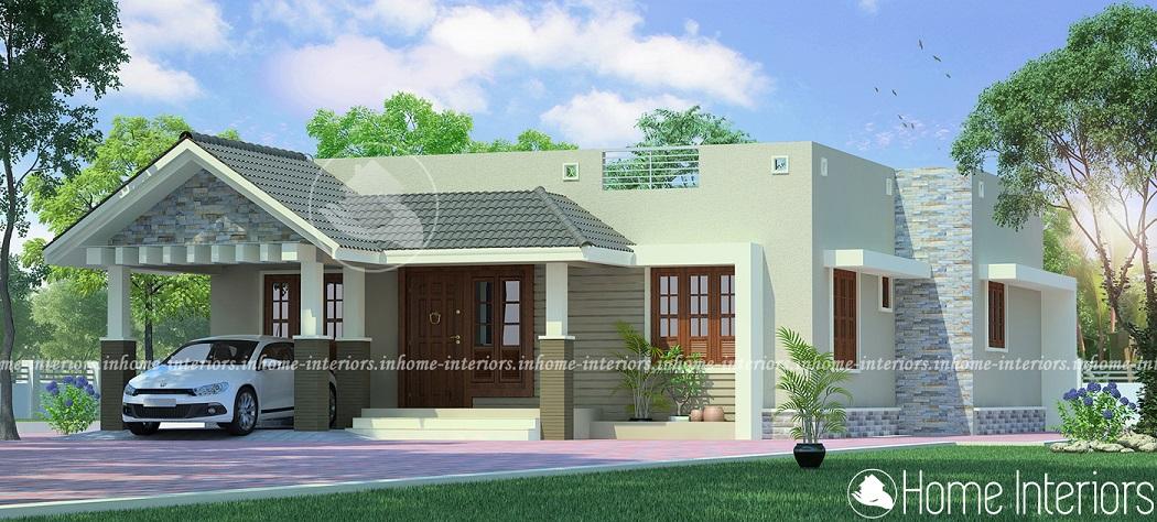 1215 Square Feet Single Floor Contemporary Home Design