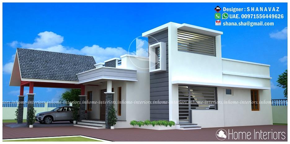 1226 Square Feet Single Floor Contemporary Home Design