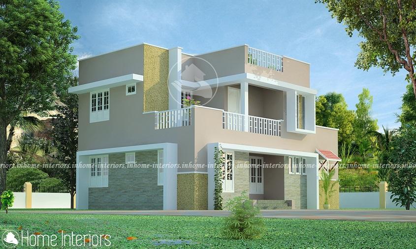 1512 Square Feet Double Floor Contemporary Home Design