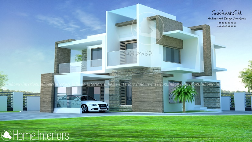 2000 Sq Ft Double Floored Contemporary Home Design