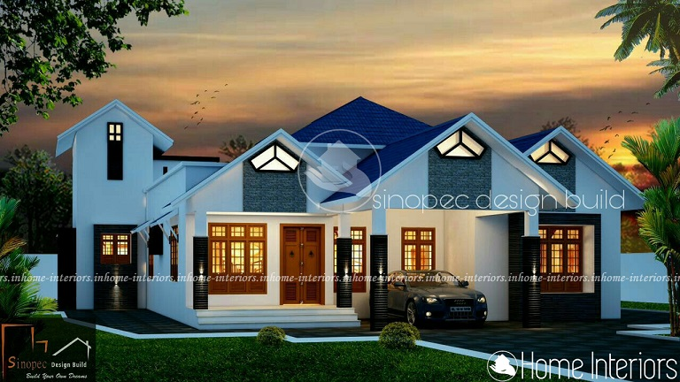 2094 Square Feet Single Floor Contemporary Home Design