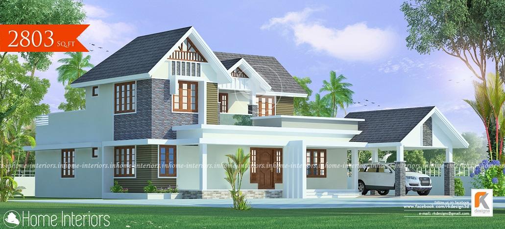 2803 Square Feet Double Floor Contemporary Home Design