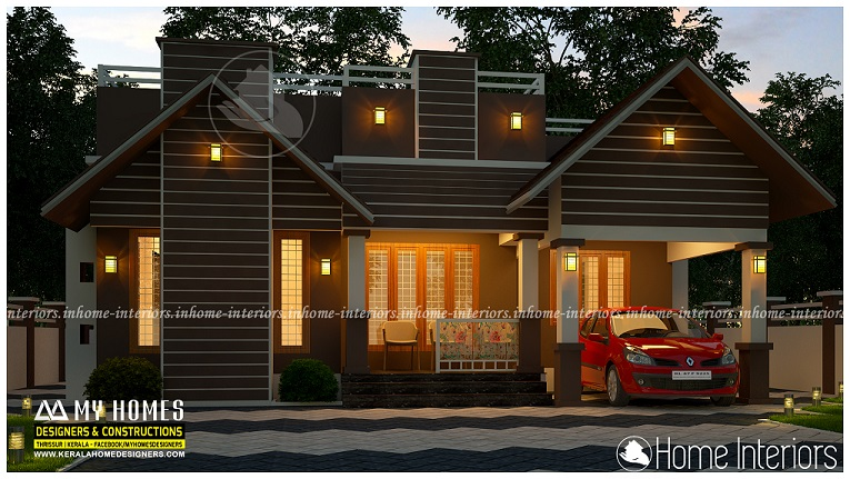 950 Square Feet Single Floor Low Cost Home Design