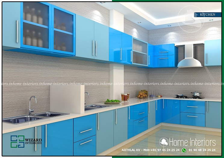 Excellent Contemporary Kitchen & Wardrobe Interior Design