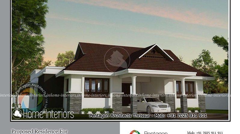 1850 Square Feet Single Floor Traditional Home Design