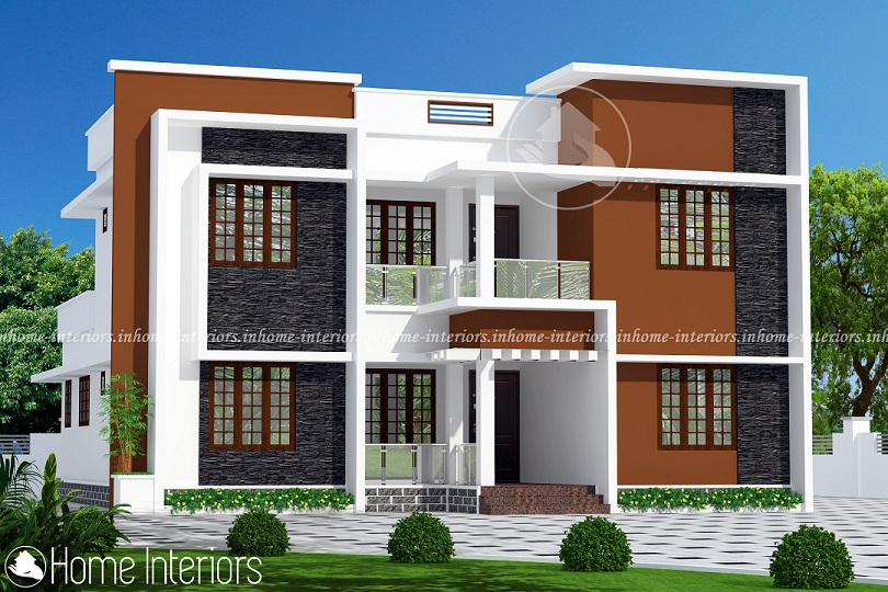 2182 Square Feet Double Floor Contemporary Home Design