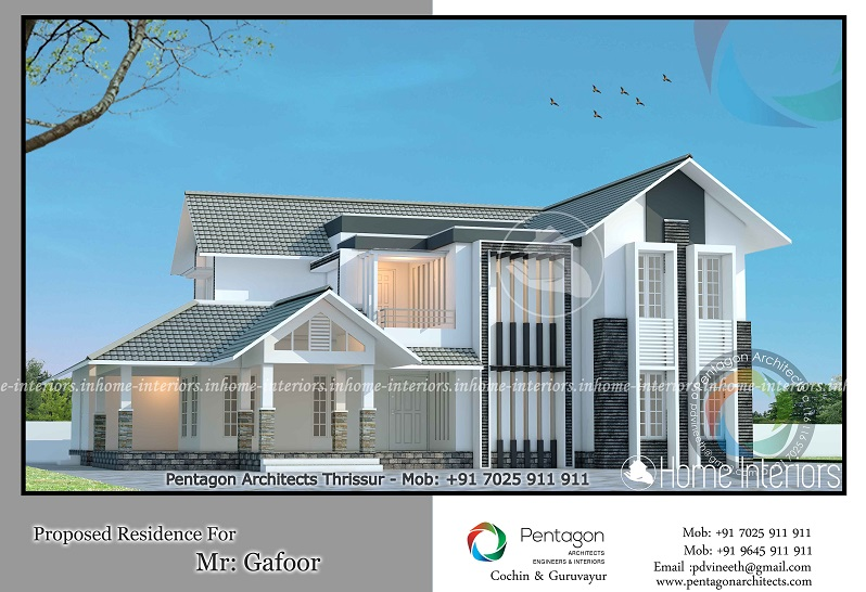 3551 Square Feet Double Floor Contemporary Home Design