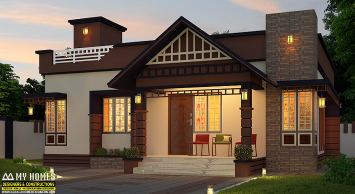 850 Square Feet Excellent And Amazing Kerala Home Designs fb - Get Low Cost Small Modern Bali House Design Pics