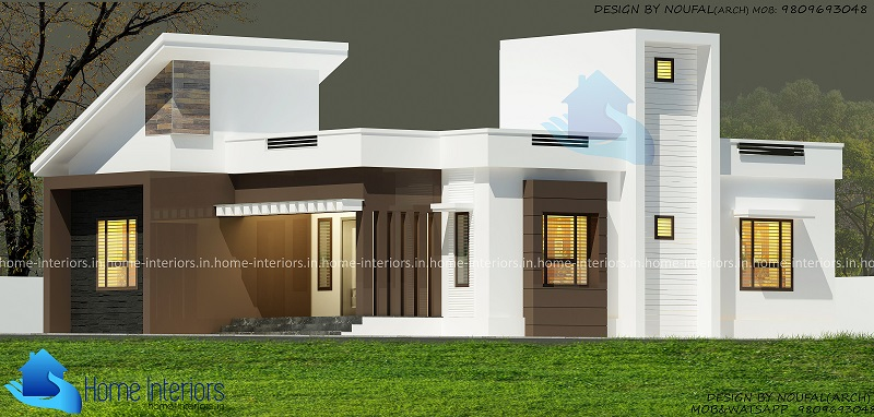 1000 Sq Ft Single Floor 2 BHK Contemporary Home Design