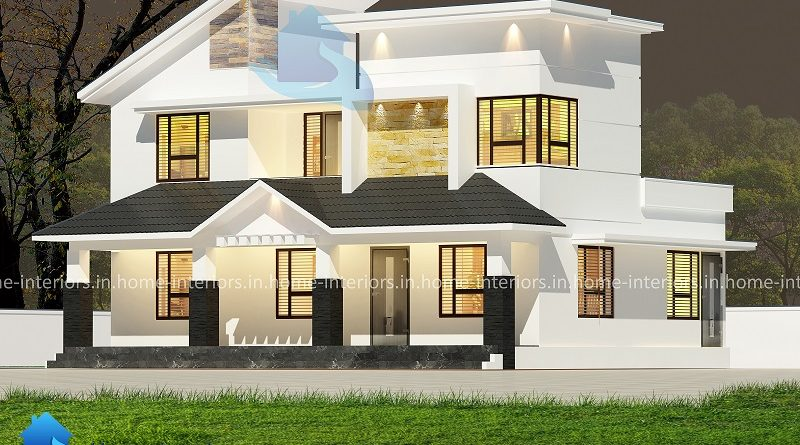1450 Square Feet Double Floor Low Cost Modern Home Design