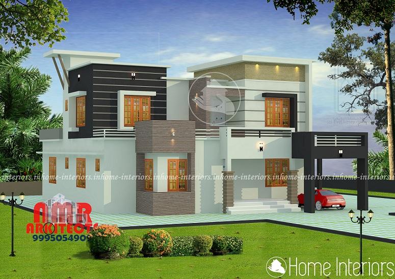 2386 Square Feet Double Floor Contemporary Home Design