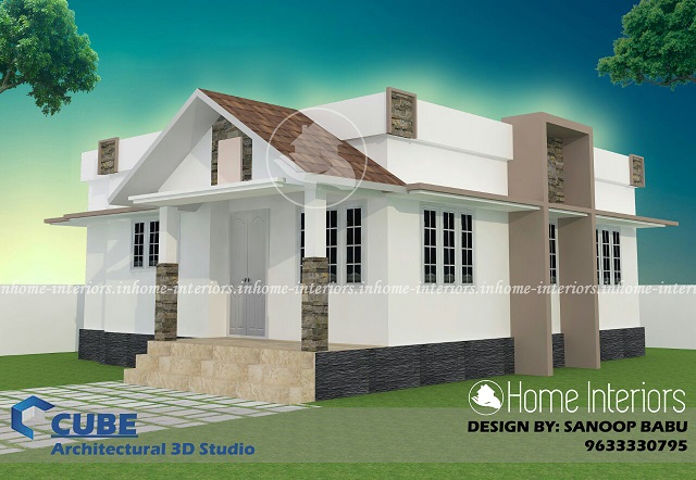775 Square Feet Single Floor Low Budget Home Design