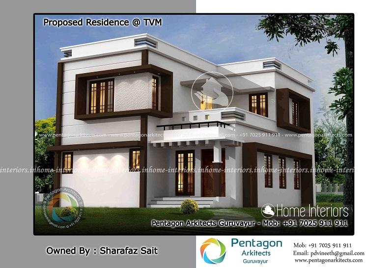 1561 Square Feet Double Floor Contemporary Home Design