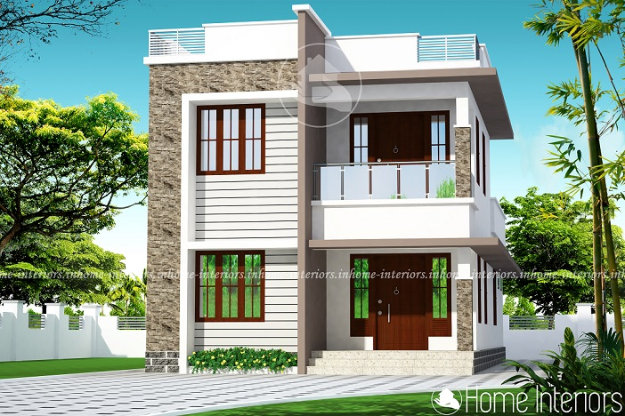 1589 Square Feet Double Floor Contemporary Home Design