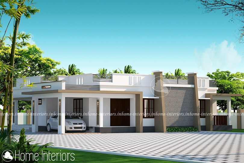 1162 Square Feet Single Floor Contemporary Home Design