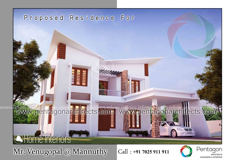 2050 Square Feet Double Floor Contemporary Home Designs
