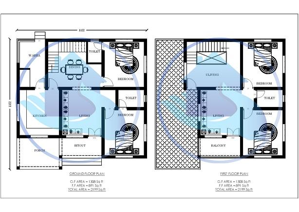 2199 Square Feet Double Floor Contemporary Home Design