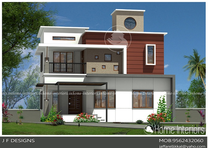 2219 Square Feet Double Floor Contemporary Home Design