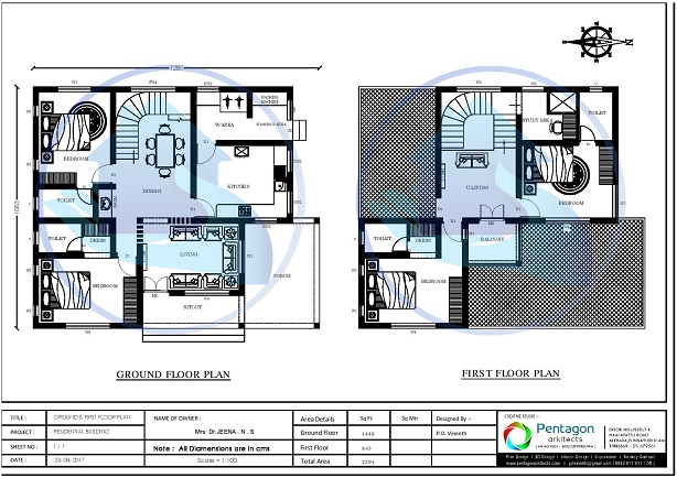 2291 Square Feet Double Floor Contemporary Home Design