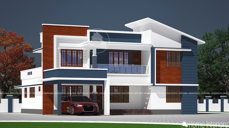 2552 Square Feet Double Floor Contemporary Home Designs