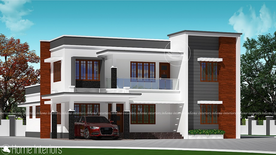 2552 Square Feet Double Floor Contemporary Home Design