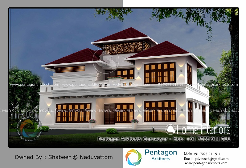 2968 Square Feet Double Floor Traditional Home Design