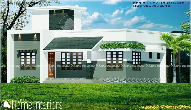 1058 Square Feet Single Floor Contemporary Home Designs