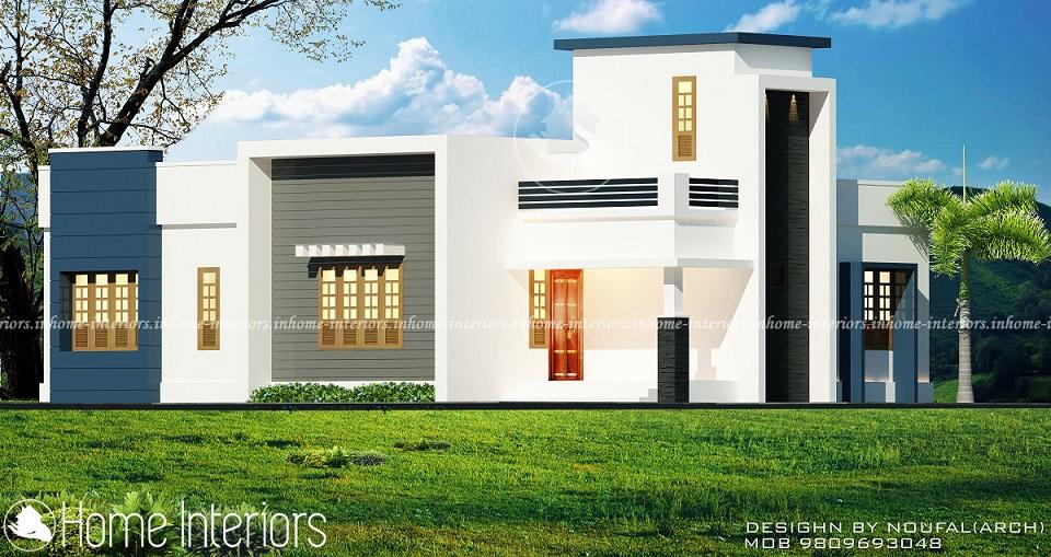 1300 Square Feet Single Floor Contemporary Home Designs