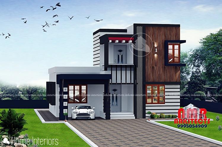 1439 Square Feet Double Floor Contemporary Home Design