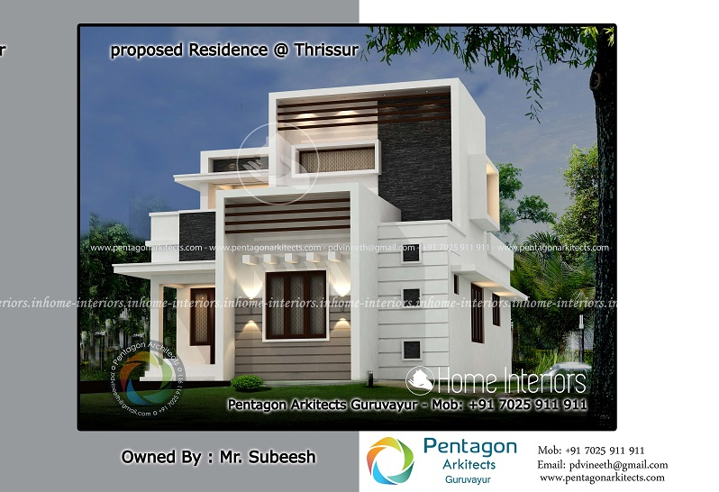 1262 Square Feet Double Floor Contemporary Home Design