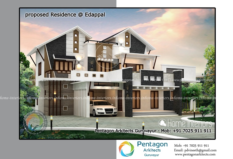 2739 Square Feet Double Floor Contemporary Home Design