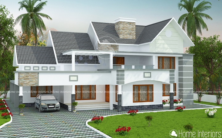 2880 Square Feet Double Floor Contemporary Home Design