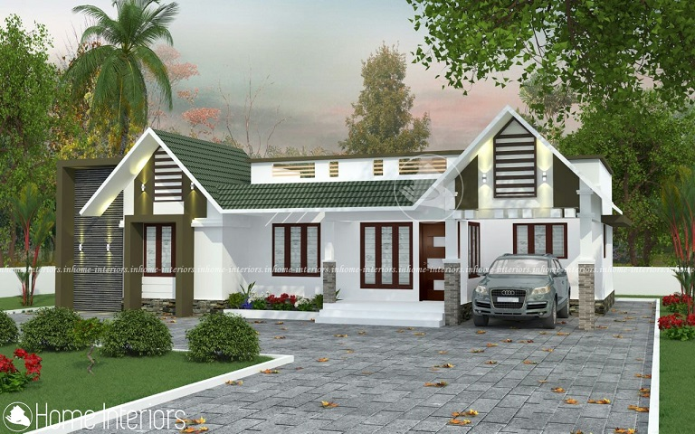 1300 Square Feet Single Floor Low Budget Home Design