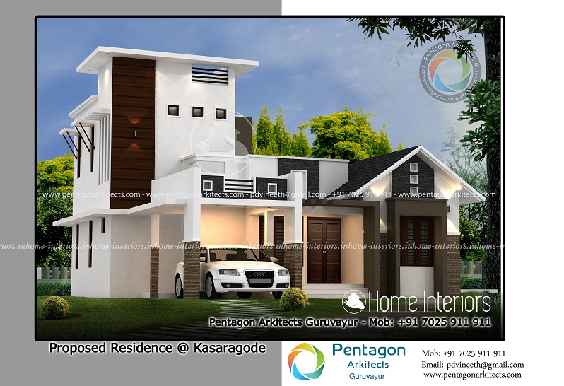 1406 Square Feet Double Floor Contemporary Home Design
