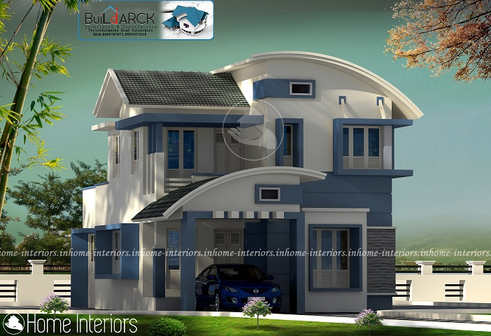 1597 Square Feet Double Floor Contemporary Home Designs