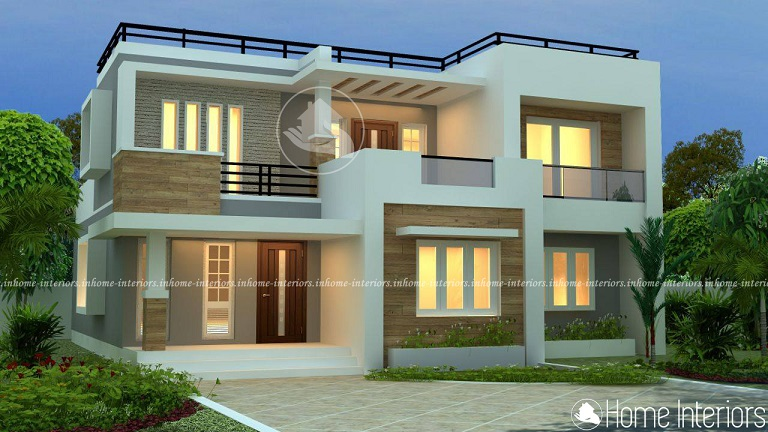 2280 Square Feet Double Floor 4 BHK Modern Home Design