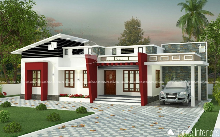 1400 Square Feet Single Floor Contemporary Home Designs