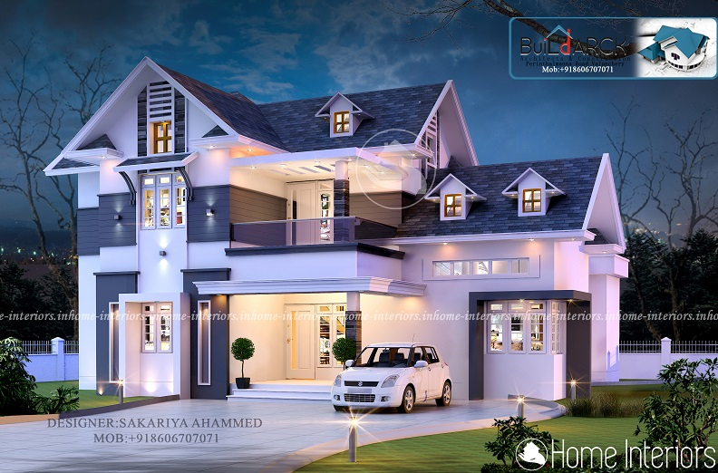 2967 Square Feet Double Floor Contemporary Home Design