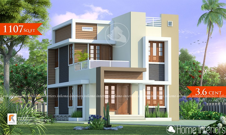 1107 Square Feet Double Floor Contemporary Home Design