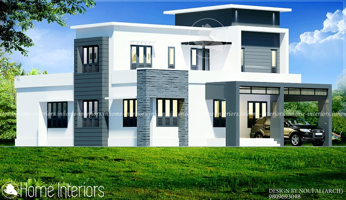 2000 Sq Ft Double Floor Contemporary 4 BHK Home Design