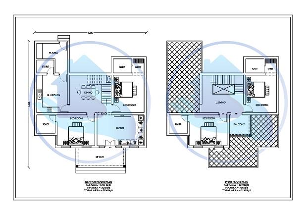 2136 Square Feet Double Floor Contemporary Home Design