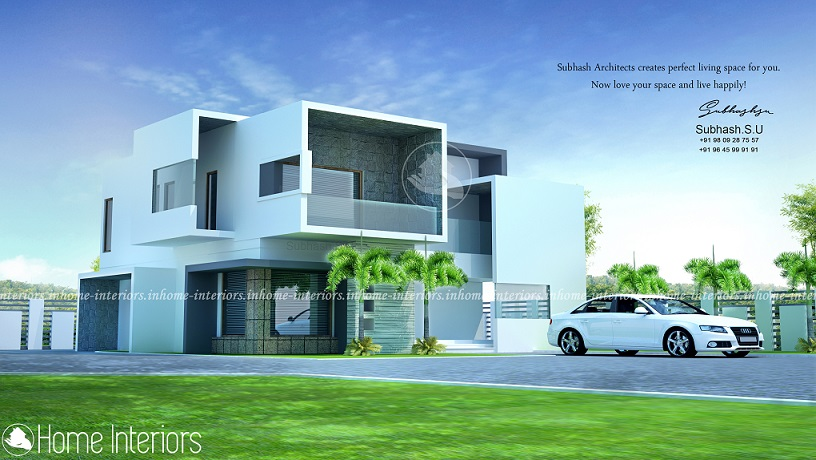 2200 Square Feet Double Floor Luxury Modern Home Design