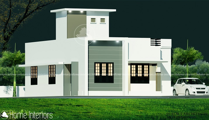 750 Square Feet Single Floor Low Budget Home Design