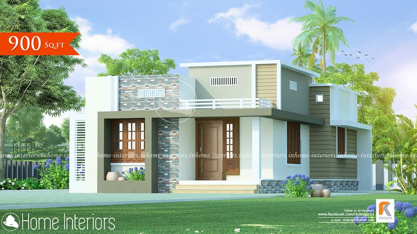 900 Square Feet Single Floor Contemporary Home Designs
