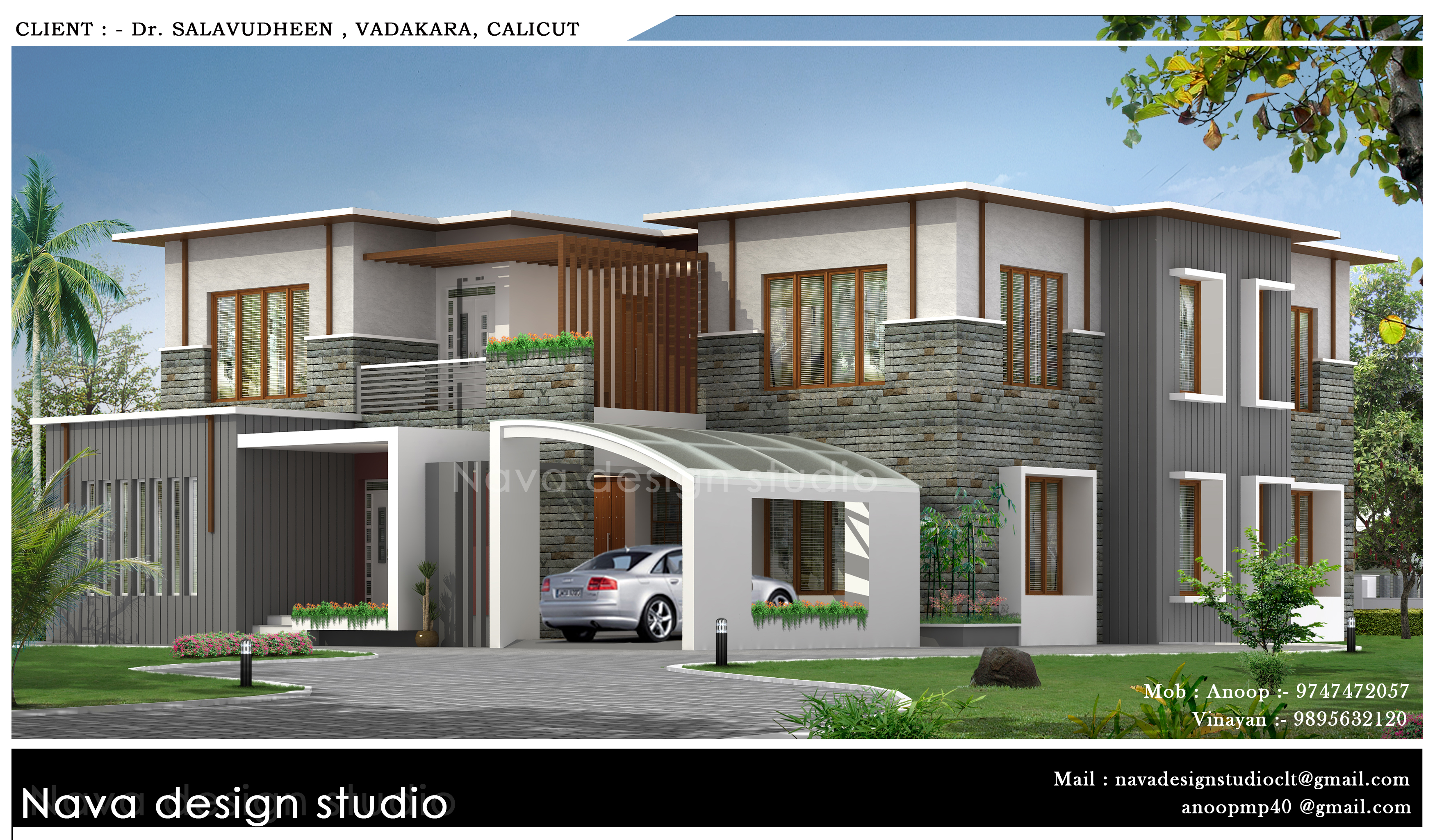 3720 Square Feet Double Floor Home Design