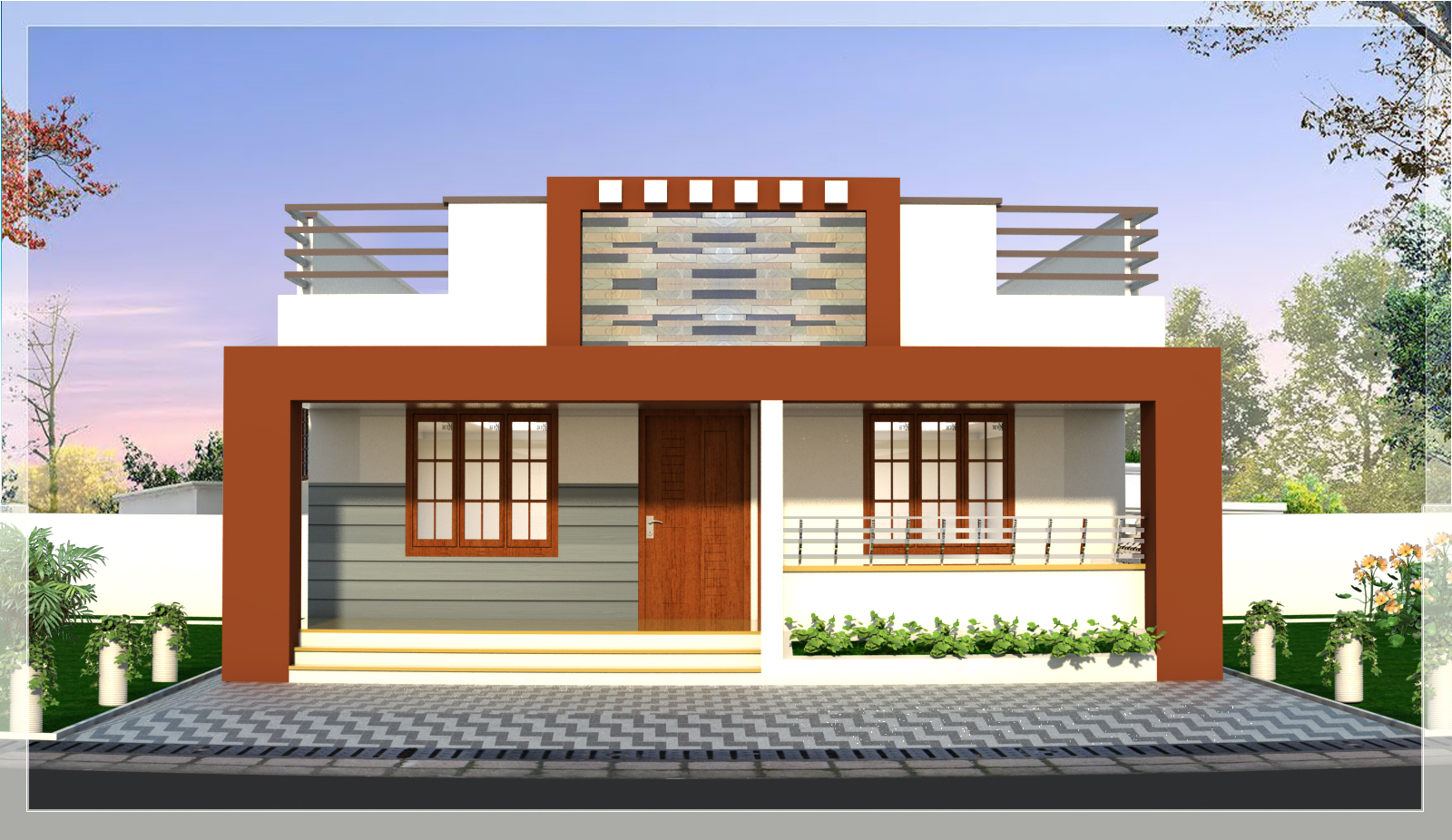 A Single Floor Home Design of 1079 Square Feet